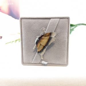 Simon G. Enamel and Sterling Butterfly Pin